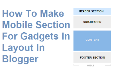How-To-Make-Mobile-section-For-Gadgets-in-Layout-In-Blogger