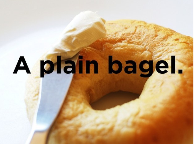 a plain bagel