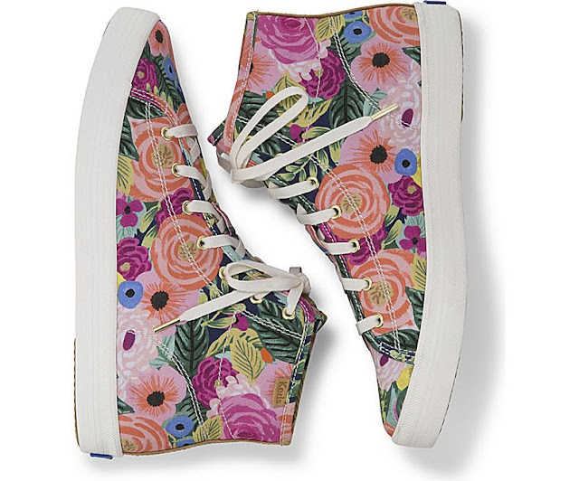 Keds X Rifle Paper Co Floral High Top Sneakers