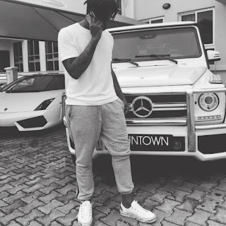 Runtown pose with 2017 Mercedez Benz G53