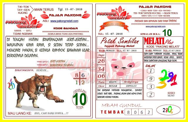 Kode Syair HK 15-07-2018