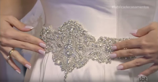Cinto de cristal noiva