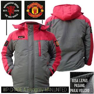 Jual Jaket Waterproof Manchester United Murah