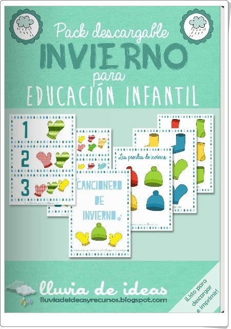 """Pack descargable: """"Invierno para Educación Infantil 2"""""""