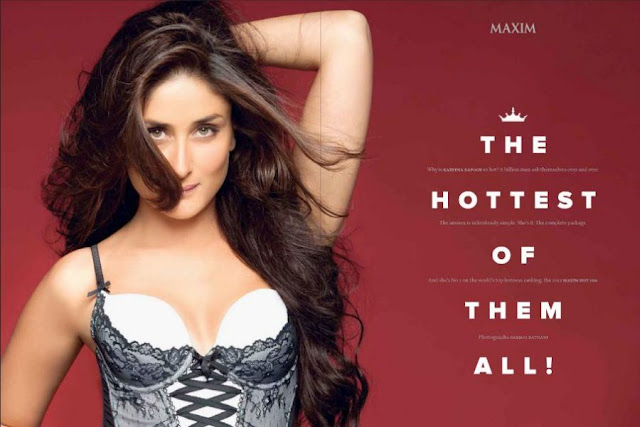 Bollywood Actresses In Maxim: HOT WALLPAPERS WORLD: Kareena Kapoor IN HOT White Bra