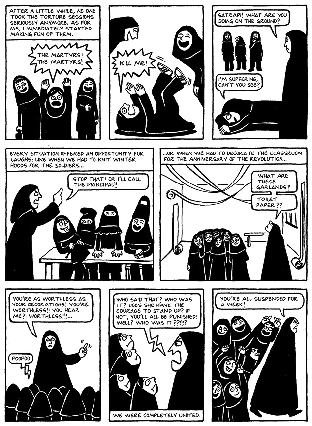 Read Chapter 13 - The Key, page 95, from Marjane Satrapi's Persepolis 1 - The Story of a Childhood