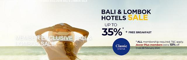 預訂Accor雅高巴厘島、龍目島酒店會員早鳥價最低可享六五折優惠 +免費雙早(02/28前預訂)
