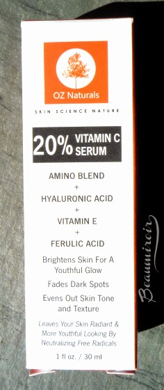 Photo of OZ Naturals Vitamin C Serum Skincare, cruelty-free, vegan, made in USA anti-aging product