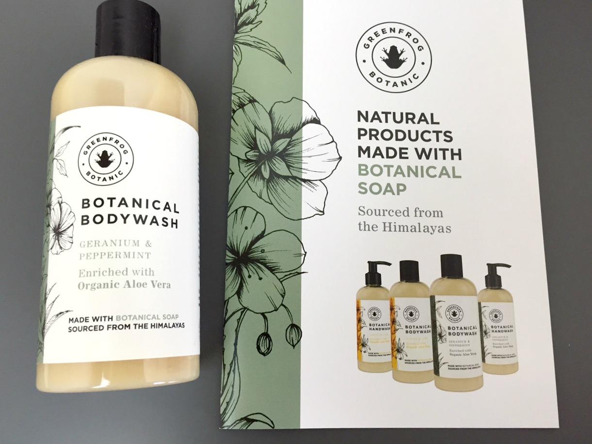 Greenfrog Botanic Botanical Bodywash Geranium & Peppermint