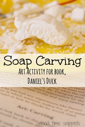 soap carving art project - Daniel's Duck