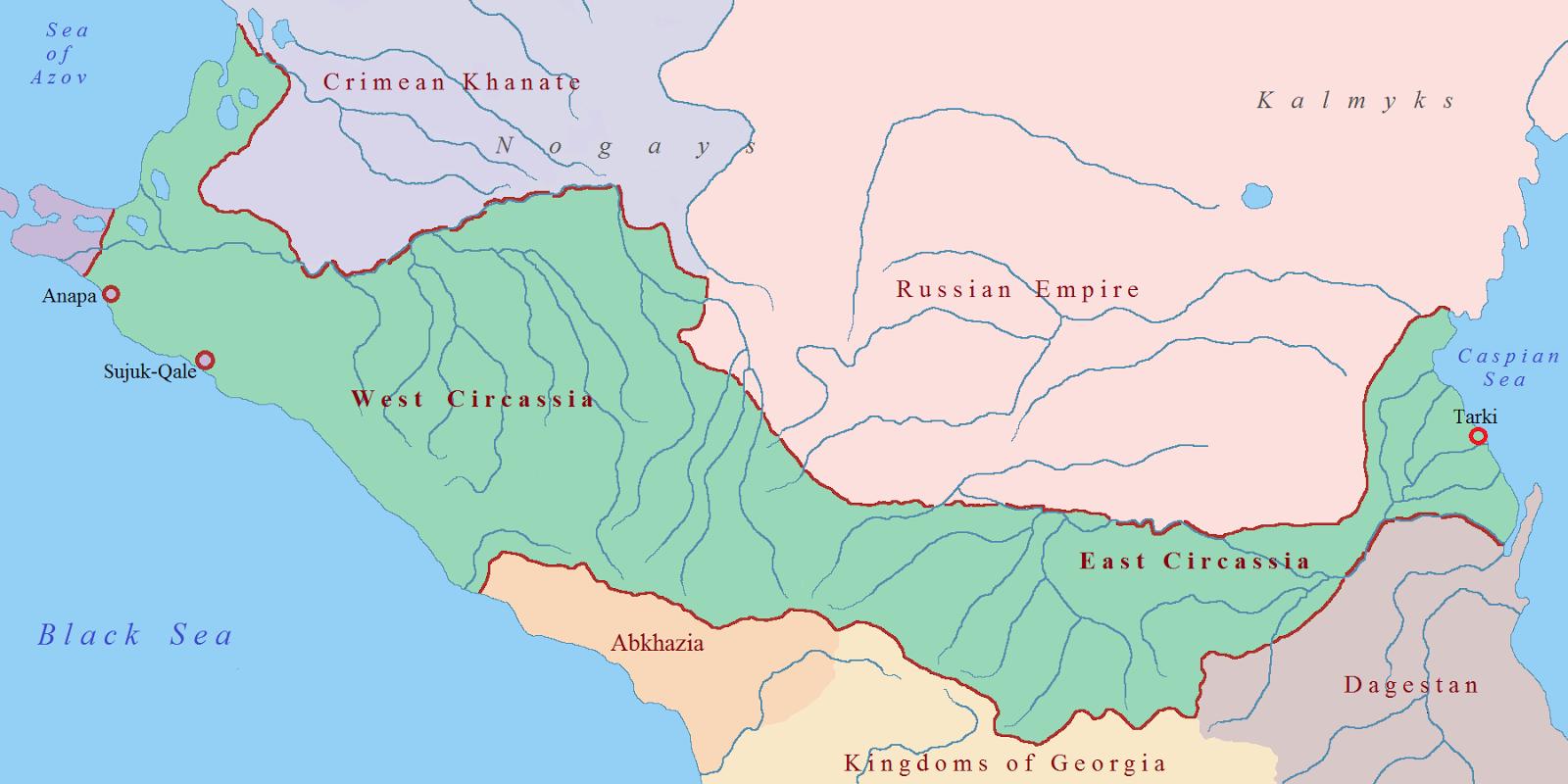 фальшивая карта Черкесии