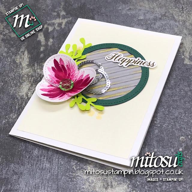 Stampin' Up! Peaceful Noel & Sprig Punch Bundle Card Idea. Order cardmaking products from Mitosu Crafts UK Online Shop