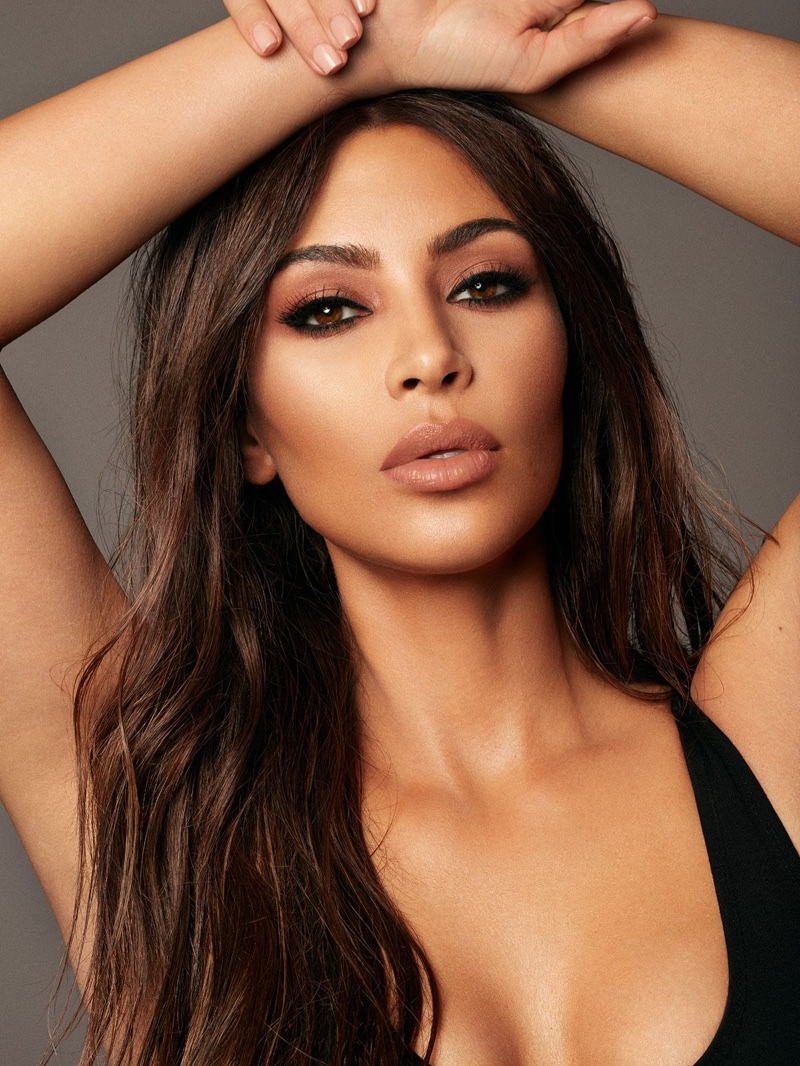 Kim Kardashian West goes glam for KKW Beauty x Mario Campaign
