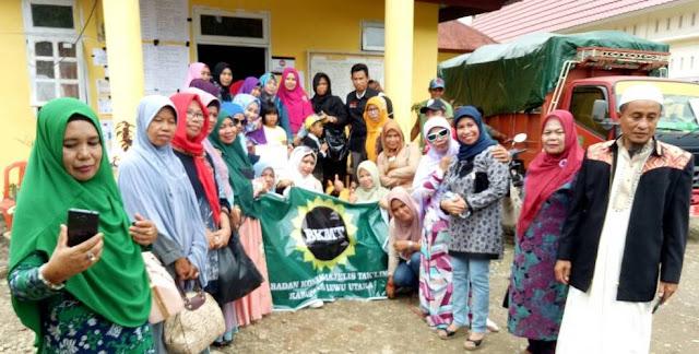 BKMT Luwu Utara Serahkan Bantuan tuk Korban Longsor di Lutim