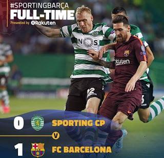 Barcelona Menang 1-0 atas Sporting Lewat Gol Bunuh Diri