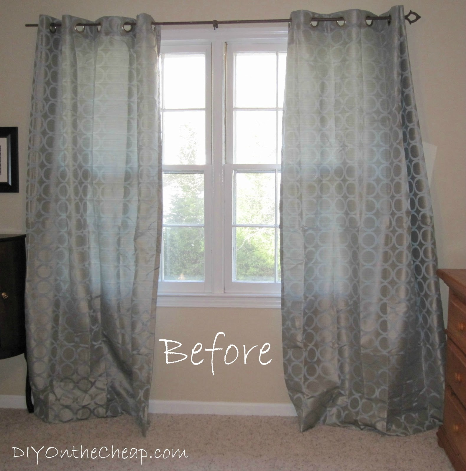 Easy No Sew Hem For Curtains