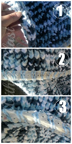 Chunky {NOT} Knitted Blanket ~ perfect project for anyone who can not knit ~ #loomknitting #loom #blanket #chunkyblanket #diy #crafts #knitting via:withablast.blogspot.com