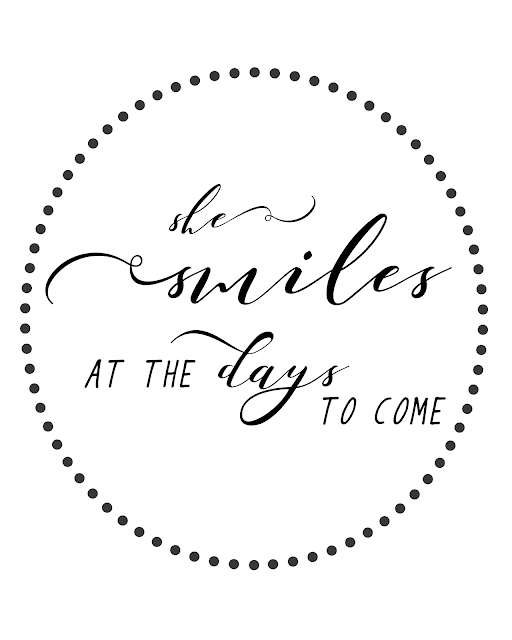She Smiles Free Printable Word Art by www.TheDottedNest.com