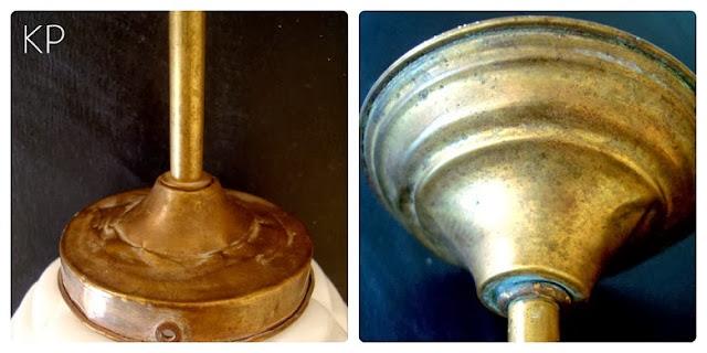 Comprar lámpara de techo vintage antigua de latón colgante