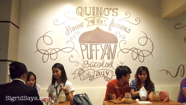 Quino's Cafe, Bacolod sweets