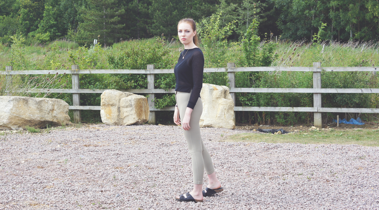 sheer black jumper and bralet