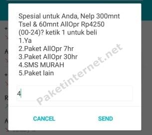Paket SMS Telkomsel