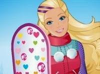 Barbie snowboarder halfpipe pixie