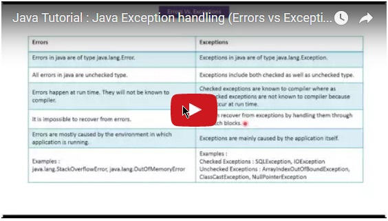 how to add exception java