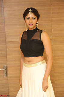 Roshni Prakash in a Sleeveless Crop Top and Long Cream Ethnic Skirt 014.JPG