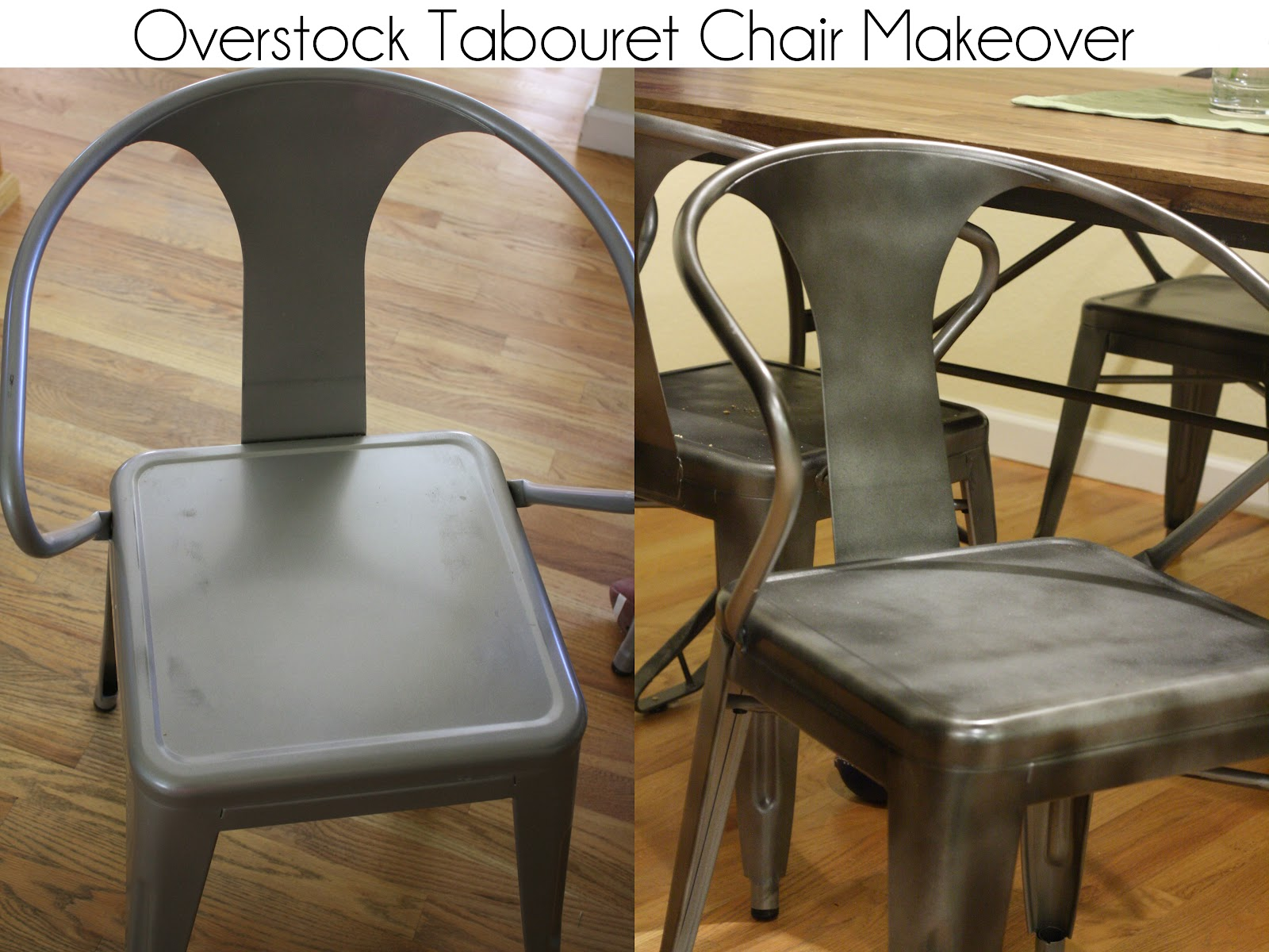 Kitchen Chair Makeover {Overstock Tabouret Chairs Painted}
