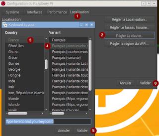Configuration du clavier raspberry pi