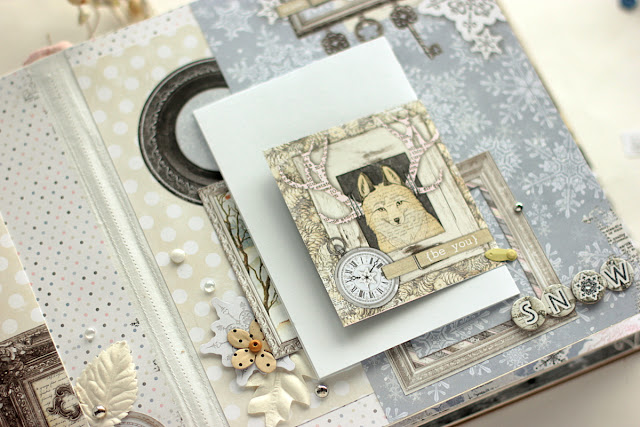 Winter Is Magic Album by Elena Olinevich using BoBunny Winter Wishes Collection