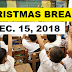 DepEd moves Christmas break to December 15, 2018