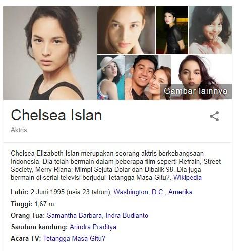 12 Fakta Menarik Chelsea Islan Yang Merupakan Seorang Aktris Indonesia