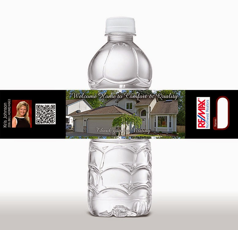personalized labels for water bottles - great for business branding