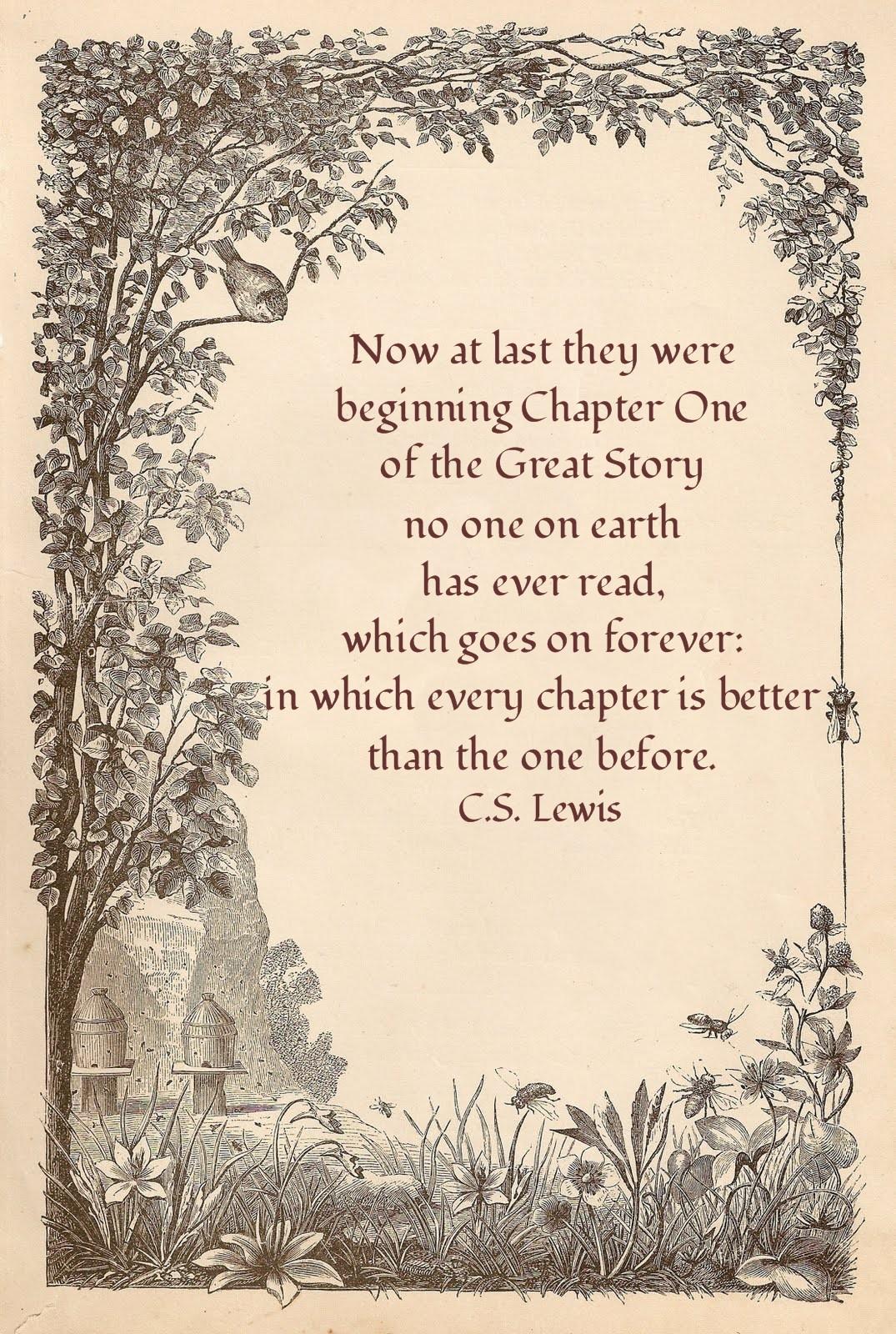 Cs Lewis Quotes New Beginning: Little Birdie Blessings : Eternal Destination