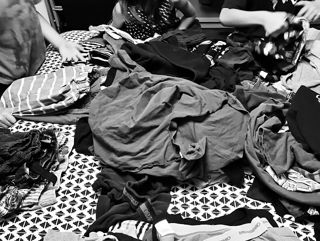 piles of laundry