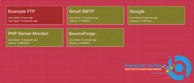 Site FTP SMTP PHP Server Takip Scripti Ücretsiz