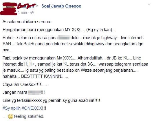 Testimoni Pengguna ONEXOX