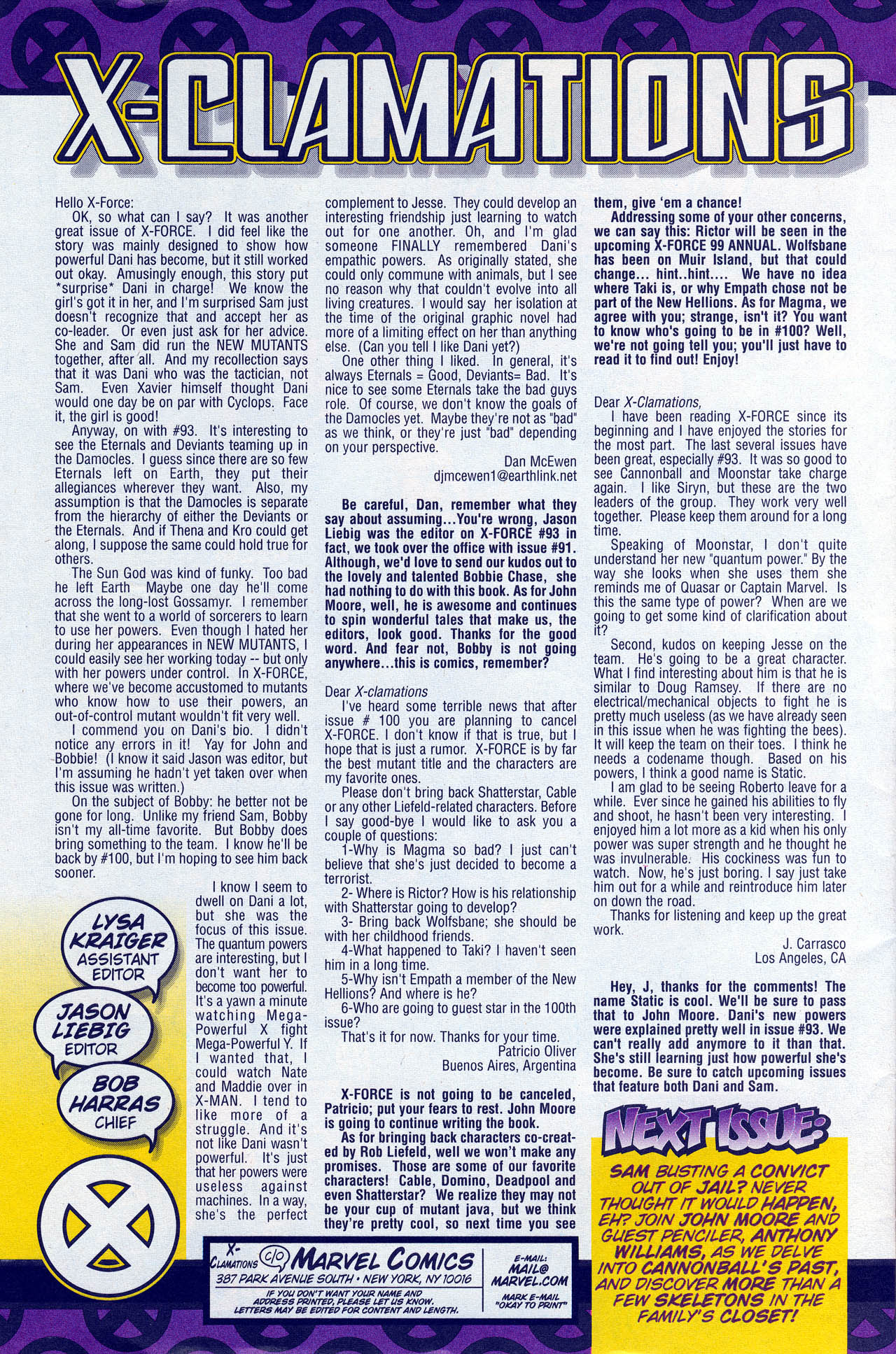 Read online X-Force (1991) comic -  Issue #95 - 33