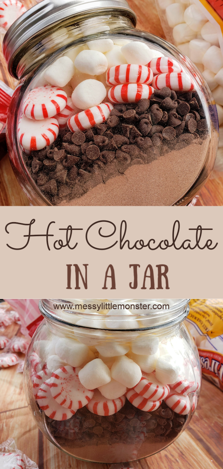 Hot chocolate in a jar. This hot chocolate mix in a jar is an easy gift kids can make. Homemade is always best and gifts in a jar like this are sure to go down well!