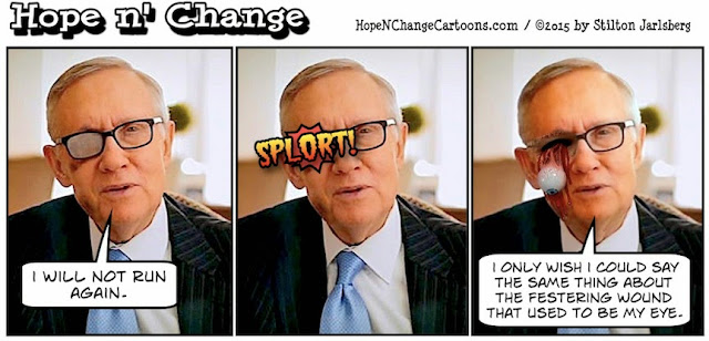 stilton's place, stilton, political, humor, conservative, cartoons, jokes, hope n' change, harry reid, exercise, rubber band, injury, asshole