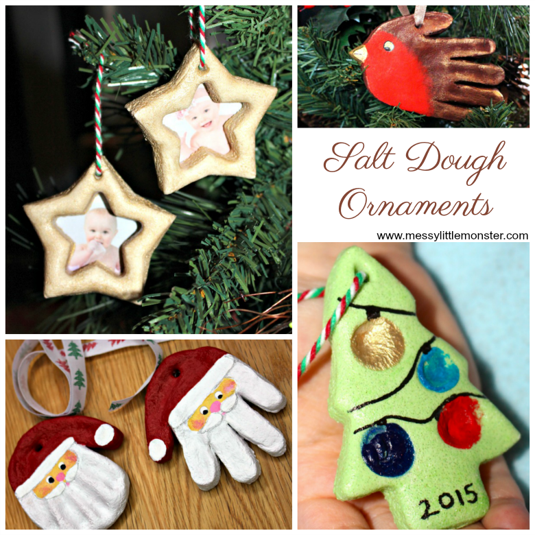 Christmas salt dough ornaments for kids