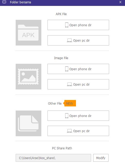 cara copy file laptop ke nox