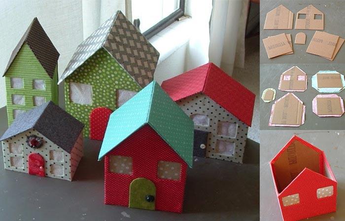 Kartondan Maket Ev Yapımı