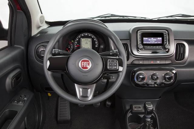 Novo Fiat Mobi Like 2017 - interior - painel