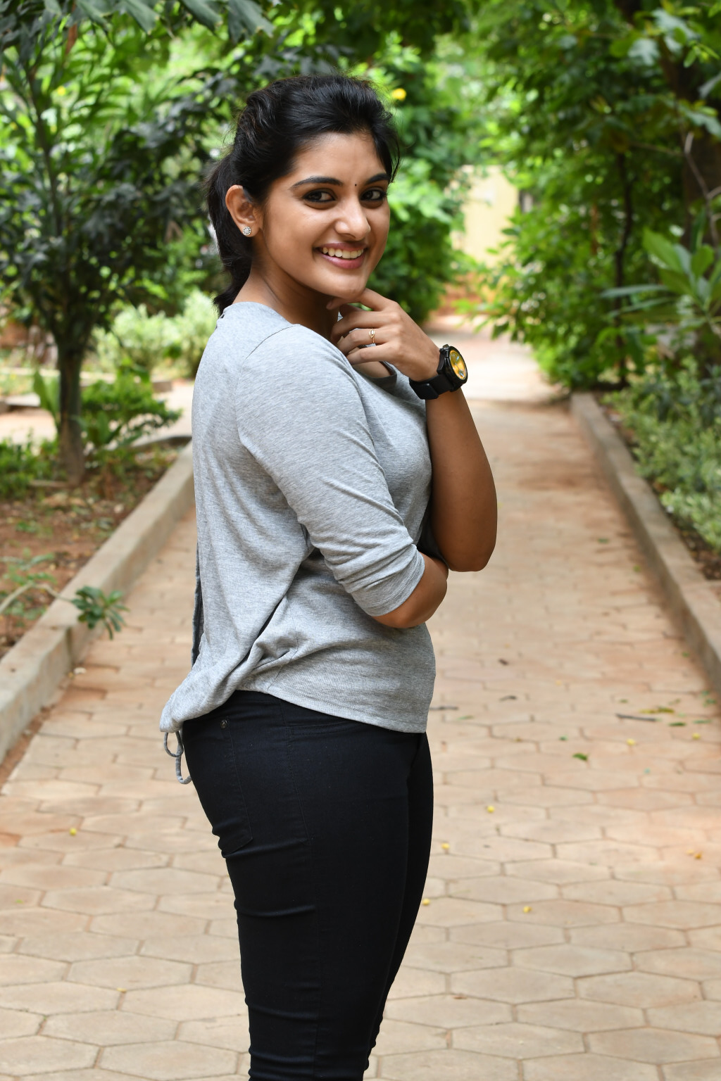 Nivetha Thomas backside pose picture