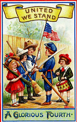 fourth of July - independence day - vintage - kids image