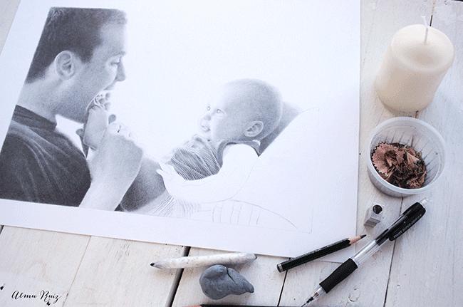 Cómo se hace un retrato realista  a lápiz