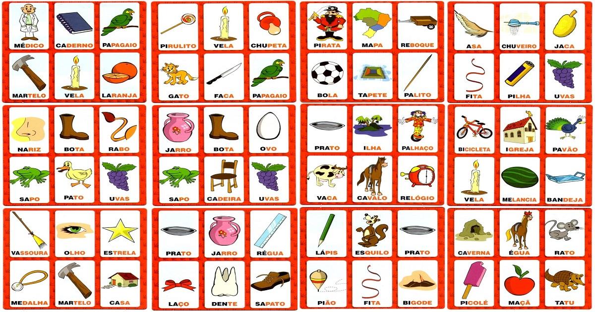 Atividades Escolares Jogos Para Alfabetizar Bingo Dos Sons Iniciais